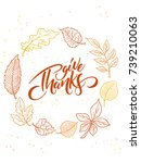 vector thanksgiving greeting... | Shutterstock .eps vector #739210063