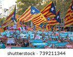 Small photo of BARCELONA, SPAIN – OCTOBER 21, 2017: 500,000 Catalans protesting against Madrid's move to impose the direct rule over Catalonia