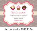 cupcake vintage card | Shutterstock .eps vector #73921186