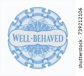 light blue passport style... | Shutterstock .eps vector #739212106