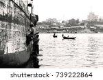 old dhaka dockyard  buriganga... | Shutterstock . vector #739222864