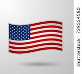 united state of america usa... | Shutterstock .eps vector #739224580