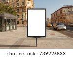 blank street billboard poster... | Shutterstock . vector #739226833