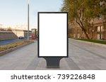 blank street billboard poster... | Shutterstock . vector #739226848