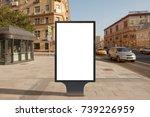 blank street billboard poster... | Shutterstock . vector #739226959