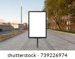 blank street billboard poster... | Shutterstock . vector #739226974