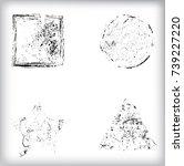 vector frames. circle for image.... | Shutterstock .eps vector #739227220