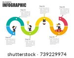 business infographics path to... | Shutterstock .eps vector #739229974