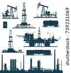 set of oil and gas industry... | Shutterstock . vector #739231069