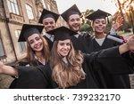 successful graduates in...   Shutterstock . vector #739232170