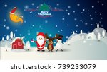 christmas background with santa ... | Shutterstock .eps vector #739233079