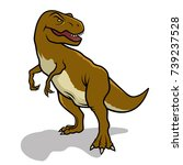 dinosaur. vector illustration.... | Shutterstock .eps vector #739237528