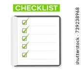 paper checklist form list flat... | Shutterstock .eps vector #739238968