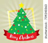 template christmas  with free... | Shutterstock .eps vector #739240363