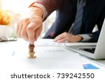 businessman analysis work... | Shutterstock . vector #739242550