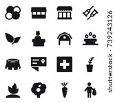 16 vector icon set   atom core  ... | Shutterstock .eps vector #739243126