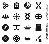 16 vector icon set   gear ...   Shutterstock .eps vector #739243210
