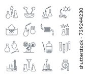 set of thin line icons chemical ... | Shutterstock .eps vector #739244230