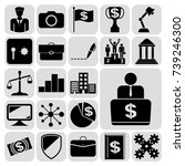 set of 22 business high quality ... | Shutterstock .eps vector #739246300