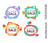 super sale  vector collection... | Shutterstock .eps vector #739253458