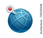 globe   pin    of the realistic ...   Shutterstock .eps vector #739254448