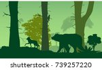 wildlife nature silhouette ... | Shutterstock .eps vector #739257220