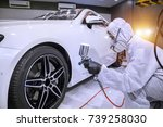 staff wear chemical protective...   Shutterstock . vector #739258030