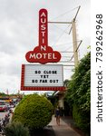 austin  texas   april 10  2016  ... | Shutterstock . vector #739262968
