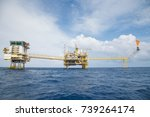 offshore oil and gas industry.... | Shutterstock . vector #739264174