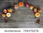 colorful fall thanksgiving... | Shutterstock . vector #739270276