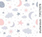 nursery baby seamless pattern. ... | Shutterstock . vector #739270378