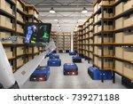 3d rendering cyborg control... | Shutterstock . vector #739271188