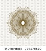 brown rosette or money style... | Shutterstock .eps vector #739275610