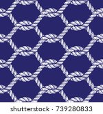 rope tied net seamless pattern | Shutterstock .eps vector #739280833