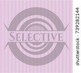 selective pink emblem. retro   Shutterstock .eps vector #739282144