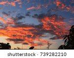 magnificent colorful clouds in... | Shutterstock . vector #739282210