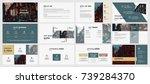 colorful presentation templates ... | Shutterstock .eps vector #739284370