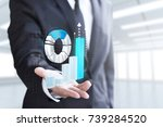 business man show increase... | Shutterstock . vector #739284520