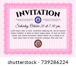 pink retro vintage invitation....   Shutterstock .eps vector #739286224