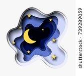 3d abstract paper cut... | Shutterstock .eps vector #739289059