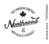 northroad   canada maple leaf...   Shutterstock .eps vector #739290664
