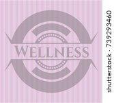 wellness vintage pink emblem   Shutterstock .eps vector #739293460