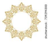 vintage classic frame. damask...   Shutterstock .eps vector #739294300