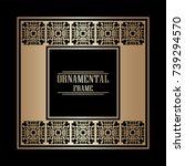 vintage ornamental art deco...   Shutterstock .eps vector #739294570