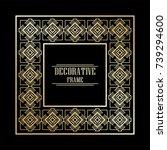 vintage ornamental art deco...   Shutterstock .eps vector #739294600