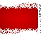christmas red background with... | Shutterstock .eps vector #739294840