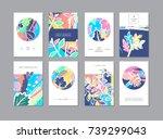 set of creative universal... | Shutterstock . vector #739299043
