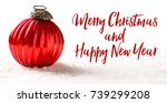 christmas card with a christmas ... | Shutterstock . vector #739299208