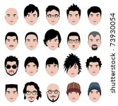 man men male human face head... | Shutterstock .eps vector #73930054