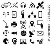 communication technology icon... | Shutterstock .eps vector #739301110